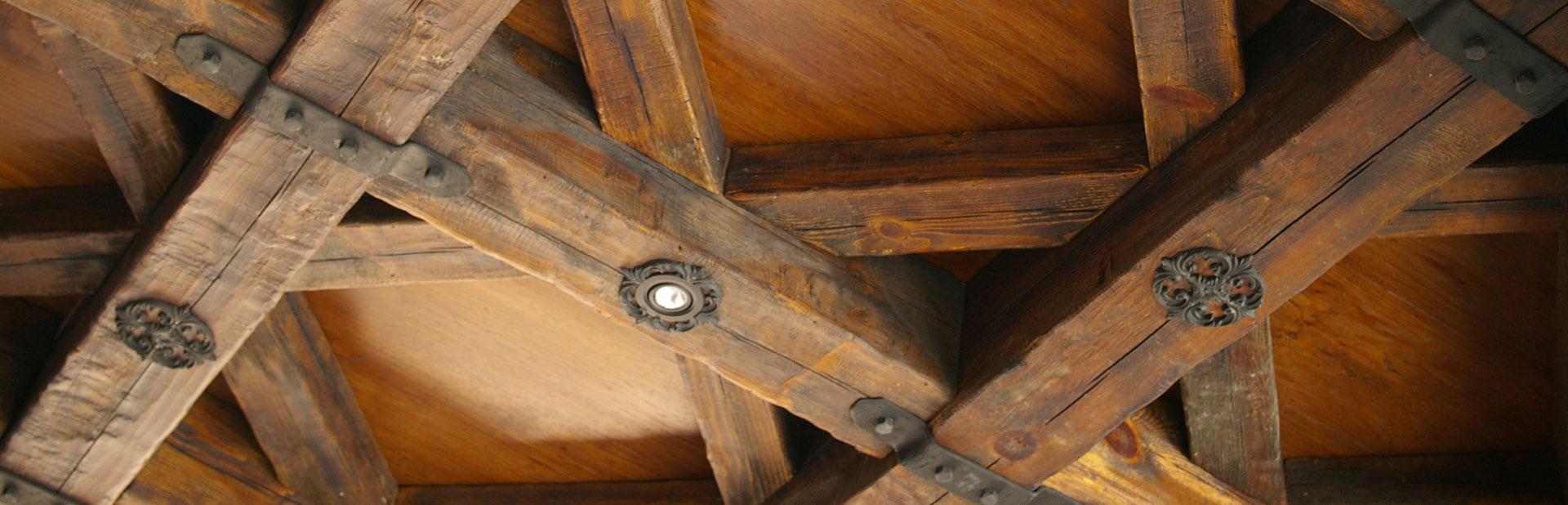 wood ceiling rustic