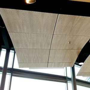 concave micro perforated ceiling