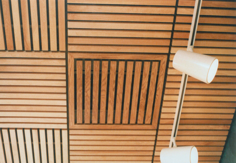 woodgrille ceiling panel